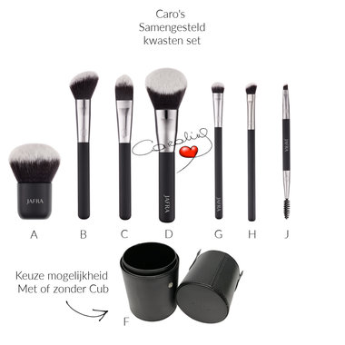 Caro's Make up Kwasten Set 2 met Cup