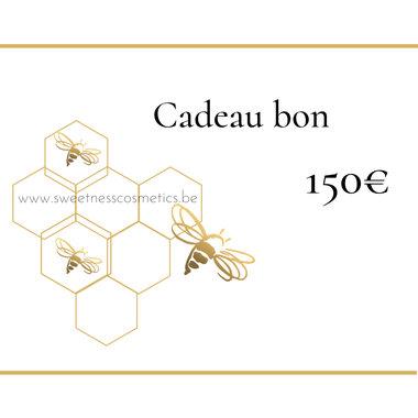 Cadeaubon 150 euro